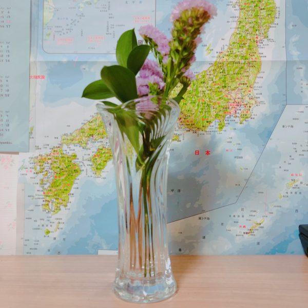 ブルーミーの花をダイソーの花瓶に飾ってみた