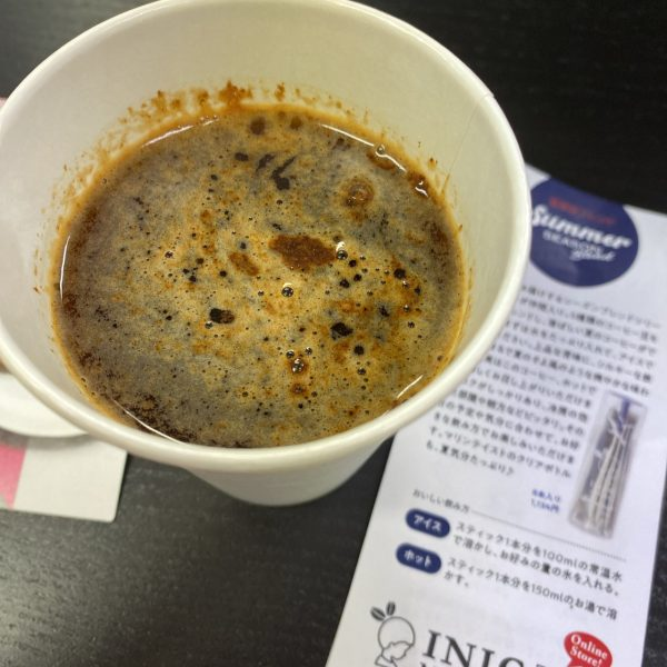 INICコーヒーを水で飲んでみた