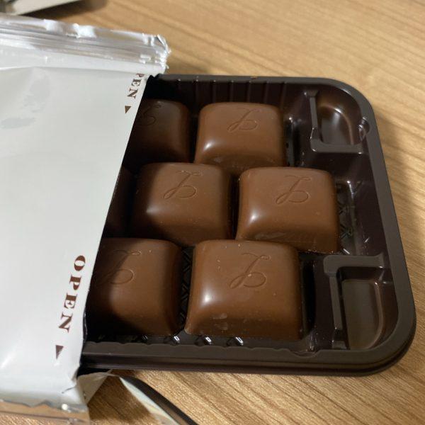 お菓子の定期便に入ってた限定チョコ